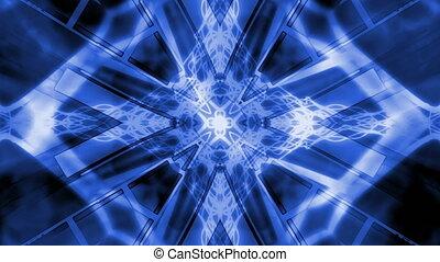 Blue and White Geometric Loop VJ