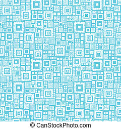 Blue and white geometric squares seamless pattern background...