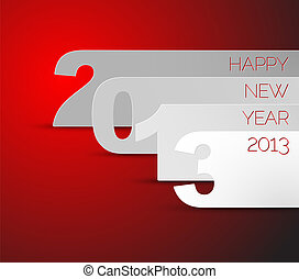 Happy New Year 2013 vector card - Blue and white Happy New ...