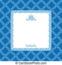 marine background with rope