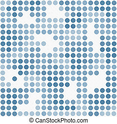 Blue and White Polka Dot Mosaic Abstract Design Tile Pattern Repeat Background