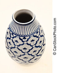Blue and White Pottery Vase