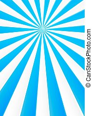 Blue and white rays abstract circus poster background