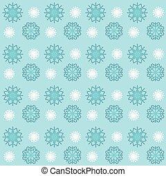 blue and white snowflakes seamless