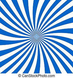 Blue and white spiral design background