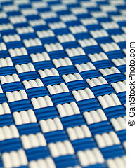 blue and white square patterned background