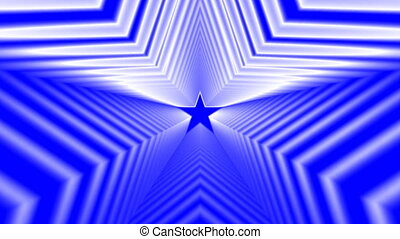 Blue And White Star