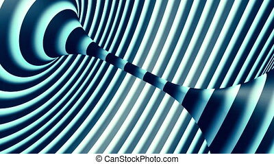 Blue and white torus loop animation