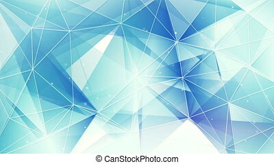 blue and white triangles web pattern loopable