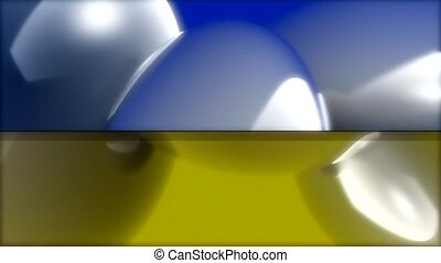 Blue and yellow divided