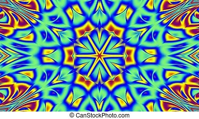 Blue and yellow kaleidoscope