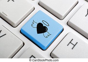 Blue angel key on keyboard