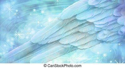 Blue Angel wing background