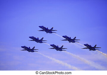 Blue Angels at Kaneohe Airshow - KANEOHE, HI - SEPTEMBER 30...
