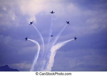 Blue Angels at Kaneohe Airshow - KANEOHE, HI - SEPTEMBER 30,...