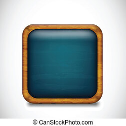 Blue app icon. Vector