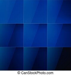 Blue aqua shiny squares abstract background