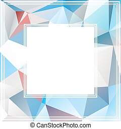 blue arctic border - Polygonal abstract background with blue...