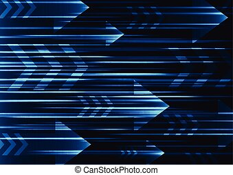 blue arrow abstract technology background
