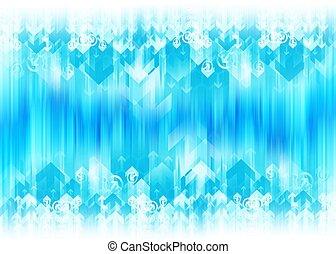 Blue Arrow Background