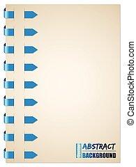 Blue arrow brochure design