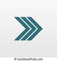 Blue Arrow icon isolated on background. Modern simple flat next sign. Business, internet concept. Trendy vector forward symbol for website design, web button, mobile app. Logo illustration.