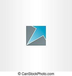 blue arrow in square icon