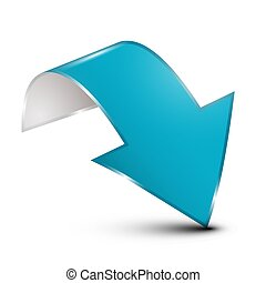 Blue Arrow Isolated on White Background. Vector.