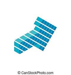 Blue arrow isometric 3d icon
