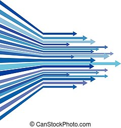 Blue arrow line upper vector abstract background