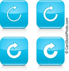 Blue arrow refresh, reload, rotation, repeat icon