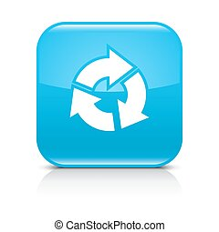 Blue arrow refresh, repeat, reload, rotation icon