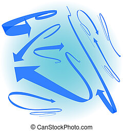 blue arrow set