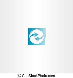 blue arrow square logo vector