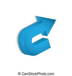 blue arrow vector with special design