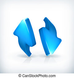 Blue arrows, vector