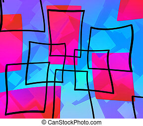 Blue Art Abstract Background