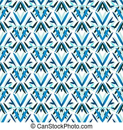 Blue art deco pattern