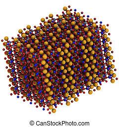 Blue asbestos (crocidolite, riebeckite), crystal structure -...