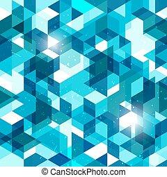 blue., astratto, pattern., seamless, vettore, fondo, geometrico