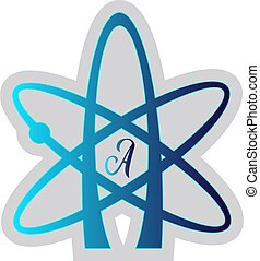 Blue Atheist symbol vector illustration on a white background