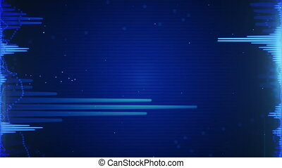 blue audio waveform loopable back - blue audio waveform....