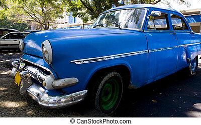 blue autó, mód, öreg
