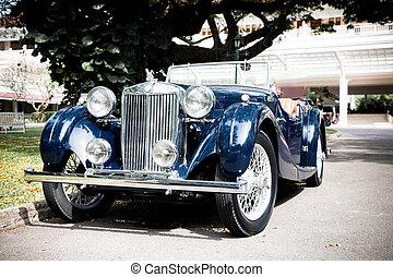 blue autó, retro, klasszikus