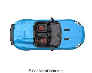 blue autó, tető, -, sport, átváltható, ég, kilátás