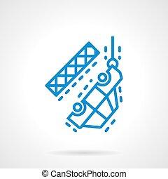 blue autó, vektor, kiürítés, egyenes, ikon