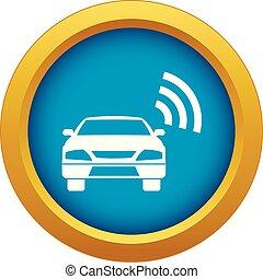 blue autó, wifi, elszigetelt, aláír, vektor, ikon