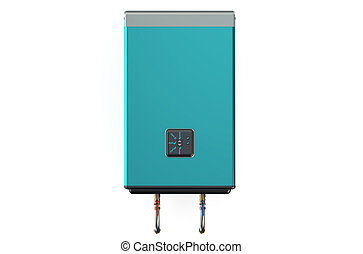 blue automatic electric water heater or boiler