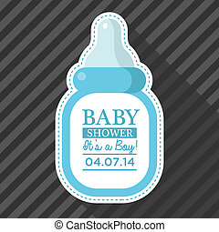 Blue Baby Bottle Card
