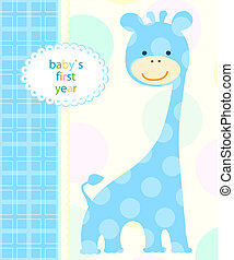 baby boy card - blue baby boy card